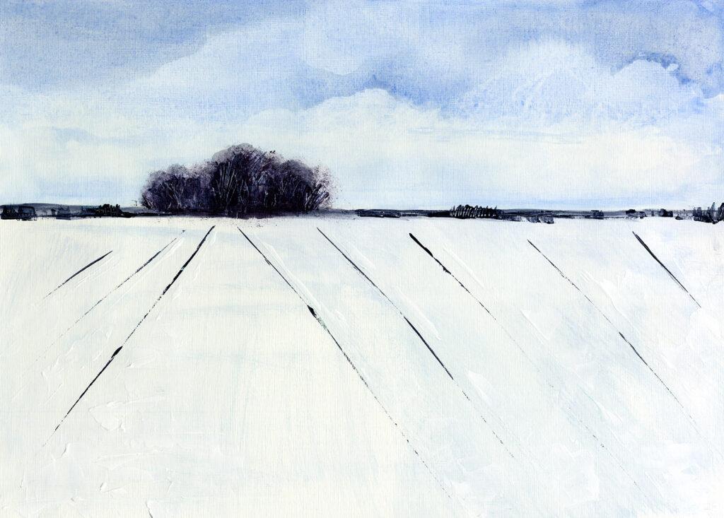 Acrylic Modern Landscape Original Painting in blue