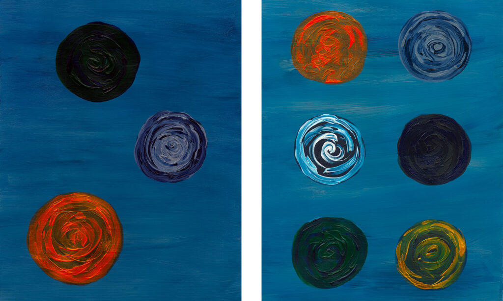 Circle Abstract Acrylic Modern Art