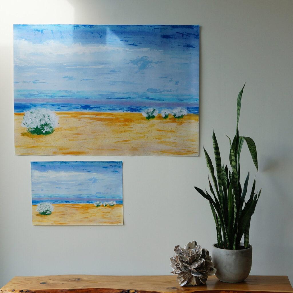 Fine art print vs original art