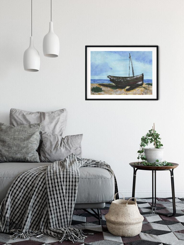 anderidaart old greatstone boat acrylic painting digital art
