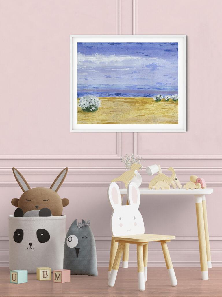 anderidaart moody landscape kids room painting digital art