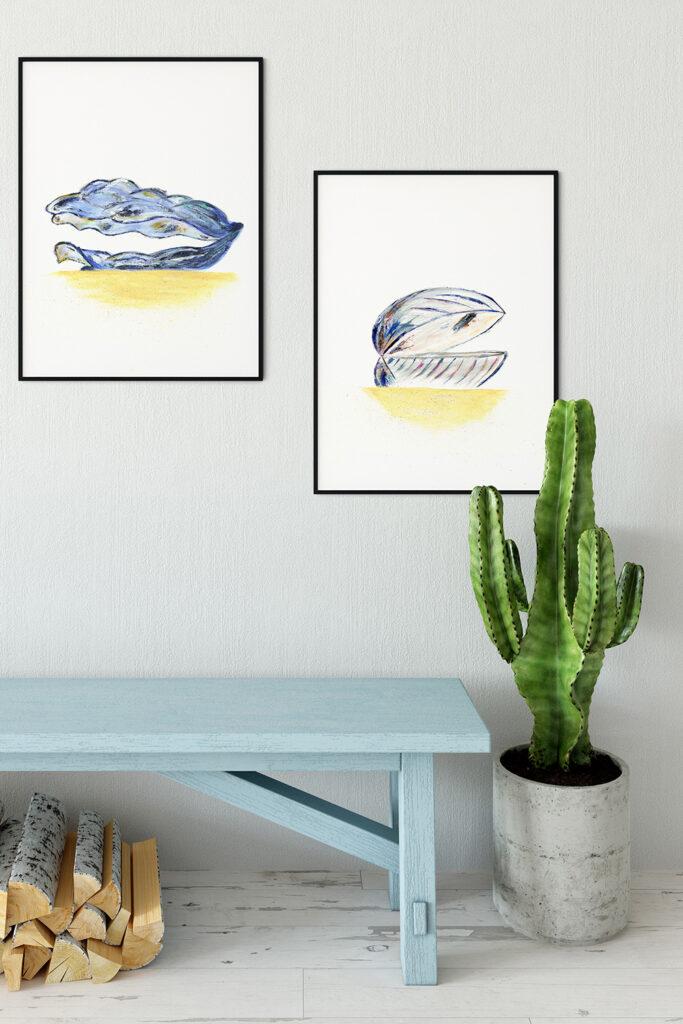 SeaShell Paintings Series interior idea