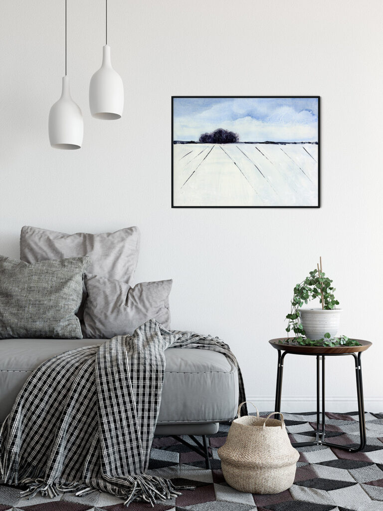 anderidaart winter trees kentish landscape  digital art