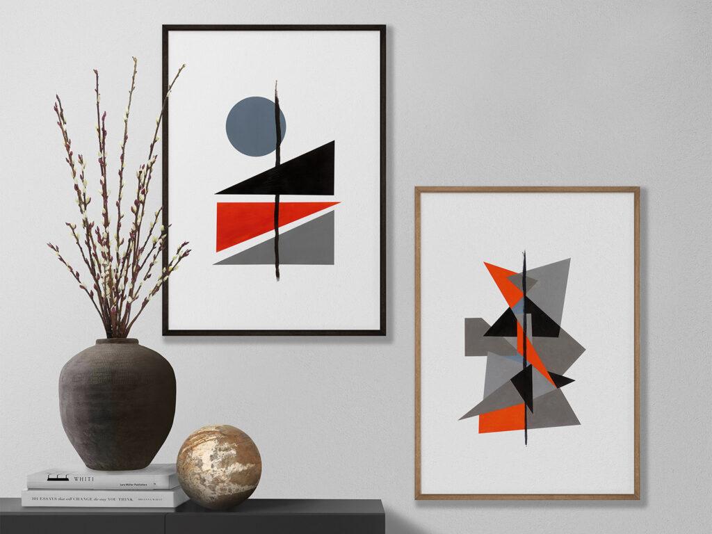 abstract geometric art print anderidaart