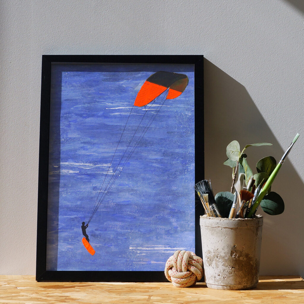 anderidaart kitesurfing acrylics painting
